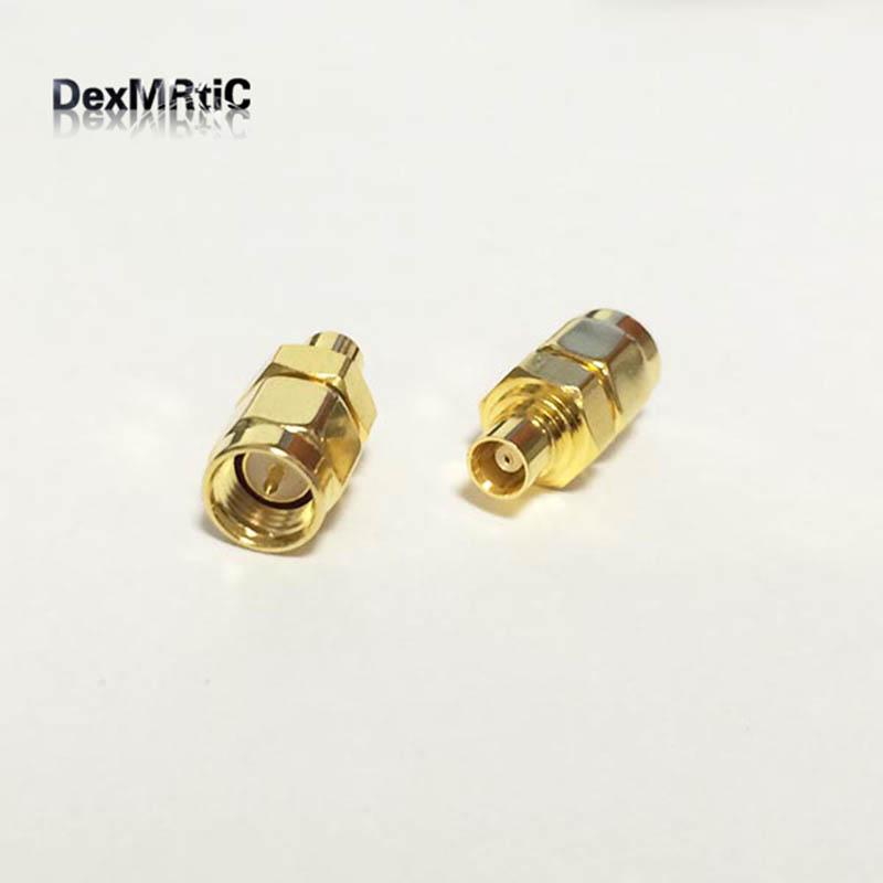 1pc  NEW  SMA  Male Plug to MCX  Female Jack  RF Coax Adapter convertor  Straight  Goldplated  wholesale areyourshop hot sale 10pcs adapter n jack female to sma male plug rf connector straight ptfe nickel plating gold plating