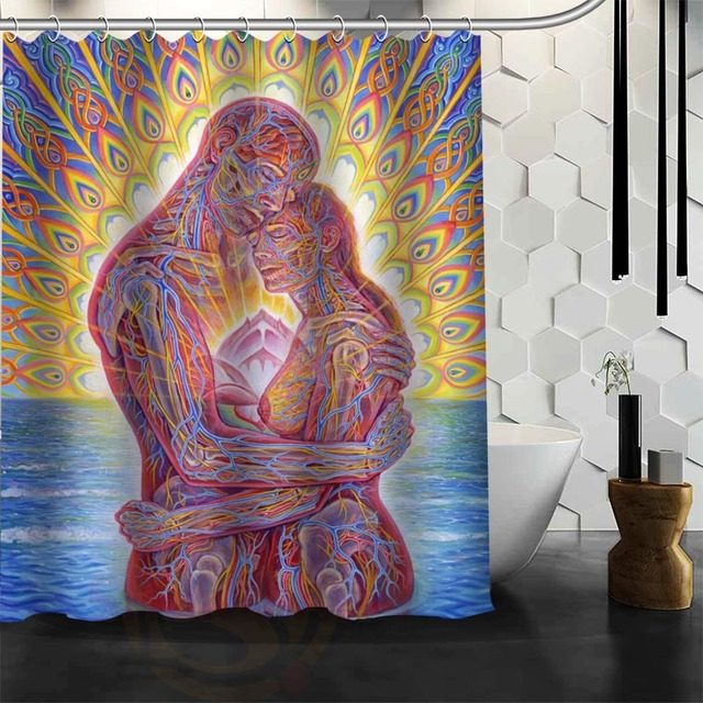 Custom Tool Band Rock Metal Shower Curtain New Large European And American  Big Print Edition Polyester