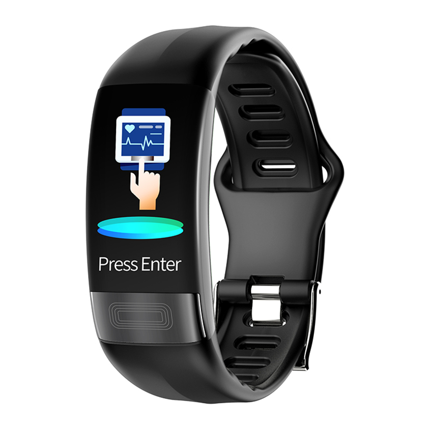 P11 ECG + PPG bande intelligente tension artérielle HR moniteur Smartband Fitness Tracker montre podomètre Bracelet intelligent pour téléphone IOS Android