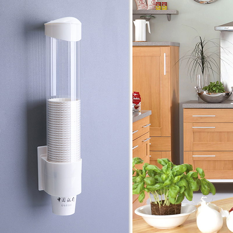 Multi-functional Anti Dust Paper Cup Dispenser Plastic Holder Water Dispenser Disposable Cups Rack Holder 9*40cmMulti-functional Anti Dust Paper Cup Dispenser Plastic Holder Water Dispenser Disposable Cups Rack Holder 9*40cm