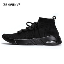 Zenvbnv Outdoor Sports Shoes Hot Sale Breathable Male Light Weight Mesh Sneakers for Man Athletic Trainer Running Shoes Size 46 цена и фото
