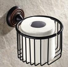 Черный Масло Втирают Бронзовый Ванная Комната Настенные держатель Туалетной Бумаги Держатель Рулона Держатель Ткани Корзина Wba071