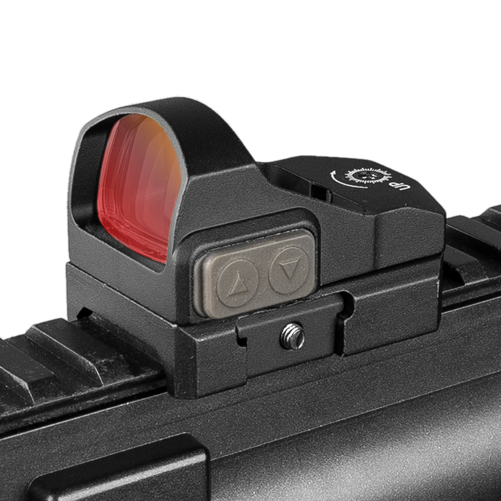 Button Adjustment Tactical 2MOA 1X Waterproof Mini Red Dot Scope Sight Hunting Scope Real Hunting Using