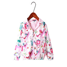 Children Unicorns Jackets Coats Flamingo Girls Hoodies Autumn Spring Baby Clothe