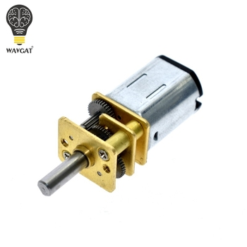 WAVGAT przyjazd DC 6V 200RPM Mini metalowy motoreduktor z kołem zębatym Model N20 3mm średnica wału dla elektronarzędzia.