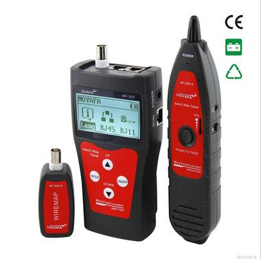 NOYAFA NF-300 RJ11 RJ45 BNC Network LAN Cable Tester Cable Wire Tracker Length tester Anti-interference meter nf 868 digital cable tester tracker for rj45 rj11 anti jamming crosstalk short circuit length tester