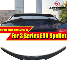 For BMW E90 Saloon Rear Boot Trunk Spoiler Lip Wing M4 style Carbon 3 Series 320i 323i 325i 328i 330i 335i Rear Spoiler 05-11 black frp auto rear tail trunk lid boot spoiler lip wing for bmw e90 sedan 4 door 05 08 m3 320i 323i 325i 330i 335i csl style