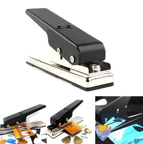QHX Original Black Guitar Plectrum Punch Picks Maker Card Cutter FOR Acoustic Guitar electric guitar bass guitar accessories