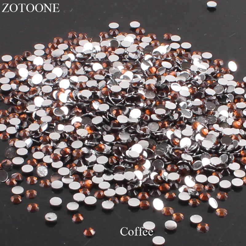 Piedras de diamantes de imitación de resina ZOTOONE para la ropa, decoración de uñas, decoración de café con parte posterior plana, arte de uñas, Strass, apliques de cristal no HotFix E