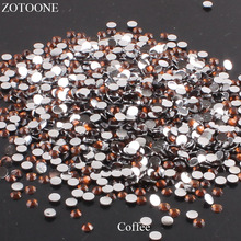 ZOTOONE Resin Rhinestones Stones For Clothes Nail Art Coffee Decorations FlatBack Non HotFix Strass Crystal Applique E