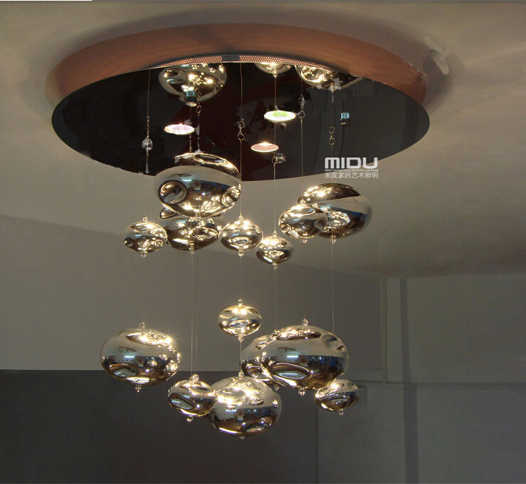 bubble lighting fixtures. H60cm Murano Due Bubble Glass Ceiling Light Chrome Lampshade Decoration Fixtures Restaurant Bedroom Home Hanging Lamp 110 240V-in Lights From Lighting C