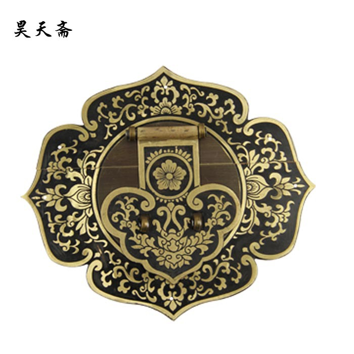 [Haotian vegetarian] imitation of Ming and Qing Dynasties of Chinese copper fittings suitable 90-110CM Zhangmu Xiang box HTN-008