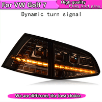 Car Styling Tail Lamp for golf mk7 Tail Lights 2013 2016 For golf 7 LED Rear Light Tail Lamp Dynamic turn signal taillight