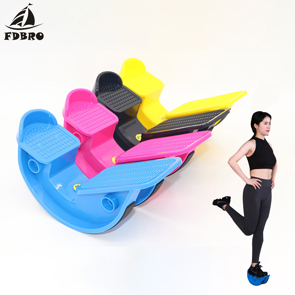 FDBRO New Plantar Fasciitis Achilles Tendonitis Muscle Stretch Foot Rocker Stretch Gymnastics Equipment Calf Ankle Stretch Board