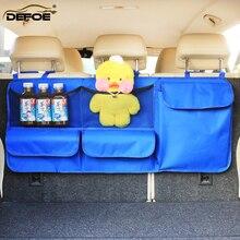 Sac de rangement de voiture auto pour organisateur de voiture sac de coffre de voiture organisateur de siège de voiture grande taille 95*40cm organisateur de coffre livraison gratuite