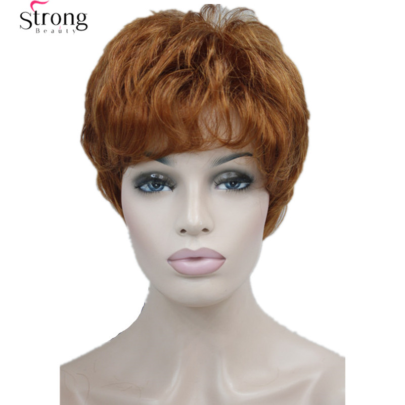 Short Layered And Spikey Copper Red Full Synthetic Wig Womens Wigs COLOUR CHOICES