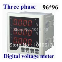 three phase LED digital voltmeter ac voltage voltmeter digital