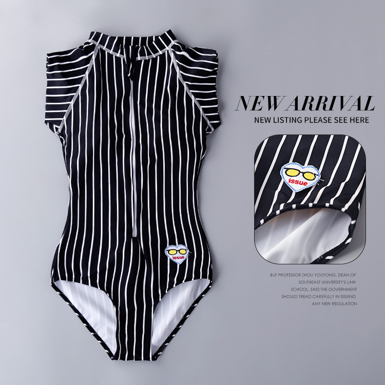 Bikini 2017 Push Up Girls One-Piece Swimsuit Sexy One Piece Swim Suits Cheap Bathing Korea New Triangle Black White Stripe one piece swimsuit swimwear women cheap sexy bathing suits lady bikini 2017 may beach girls korea push up skirt maillot de bain
