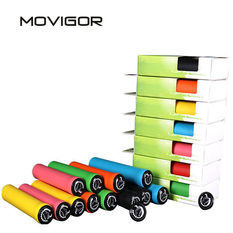 MOVIGOR 7 Colors Bicycle Handle Barend Grips Ultralight Silicone Gel MTB Road Bike Handlebar Grips Wearable Cycling AccessoriesMOVIGOR 7 Colors Bicycle Handle Barend Grips Ultralight Silicone Gel MTB Road Bike Handlebar Grips Wearable Cycling Accessories