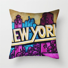 Fuwatacchi Home Decor Abstract Painting Cushion Cover Horror Style Portrait Pillows for Chair Sofa New 2019 Pillowcase