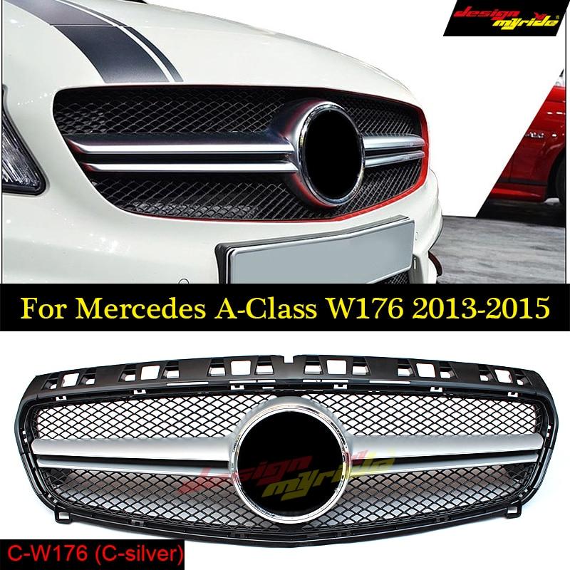 GOLFLIATH W176 grade Estilo AMG Grade Dianteira Grille ABS Preto para Mercedes Benz A-CLASS A180 A200 A250 Grades A45AMG 13 -15
