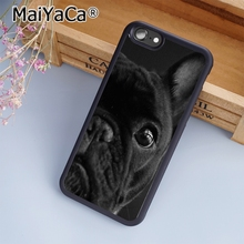 MaiYaCa French Bull Dog Black Cute Adorable Phone Case Cover for iPhone 5 5s 6 6s 7 8 Plus X soft case for samsung S6 S7 S8(China)