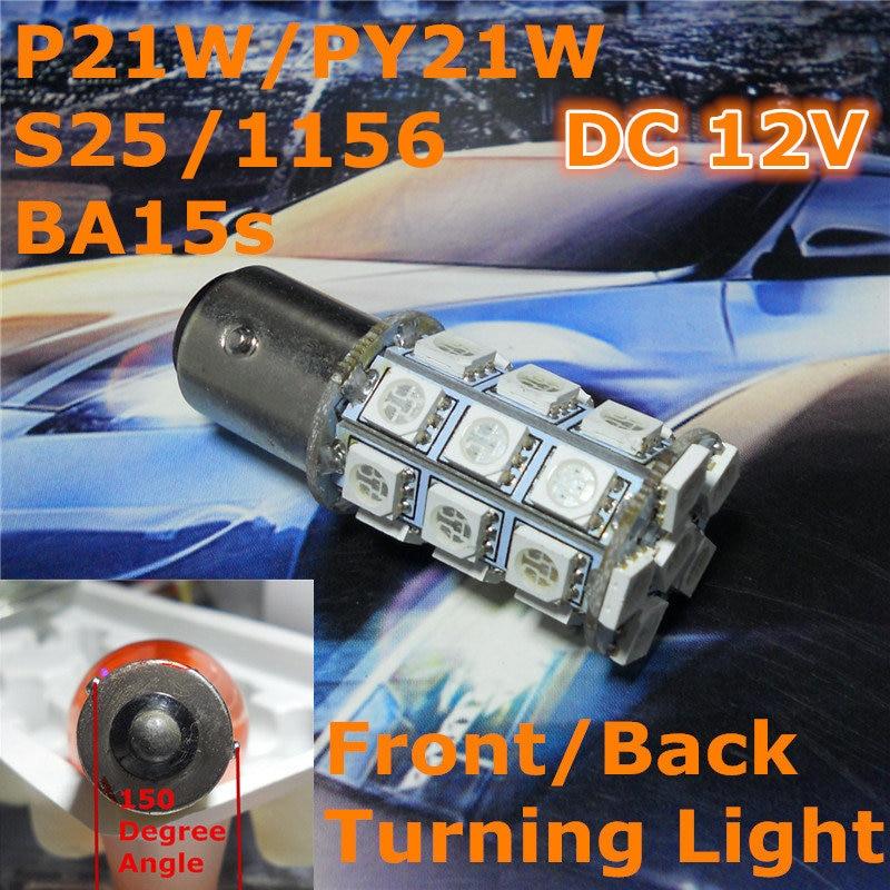 Lampada a lampadina a LED per auto 12V P21W S25 BA15s / 1156 Pad - Luci auto