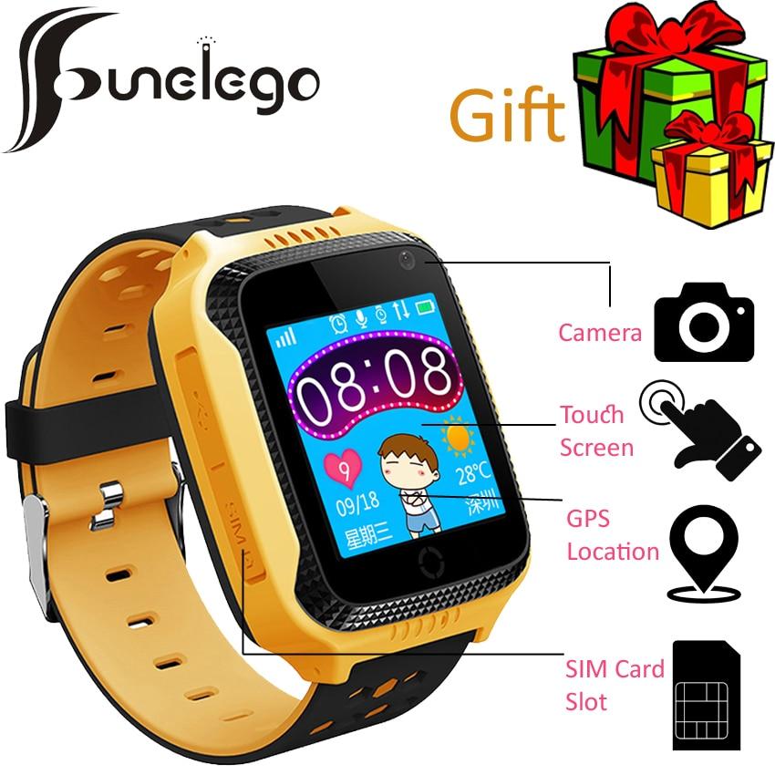 Funelego Новинка 2017 года Q528 Смарт часы для детей GPS Tracker Телефон часы Q42 Сенсорный экран Часы наручные Поддержка sim-карты