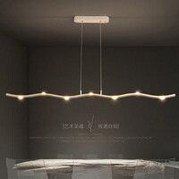 15W 21W 현대 LED 펜 던 트 조명 알루미늄 바디 분기 아트 긴 매달려 램프 다이닝 룸 Office 바 데코 화이트 펜 던 트 램프