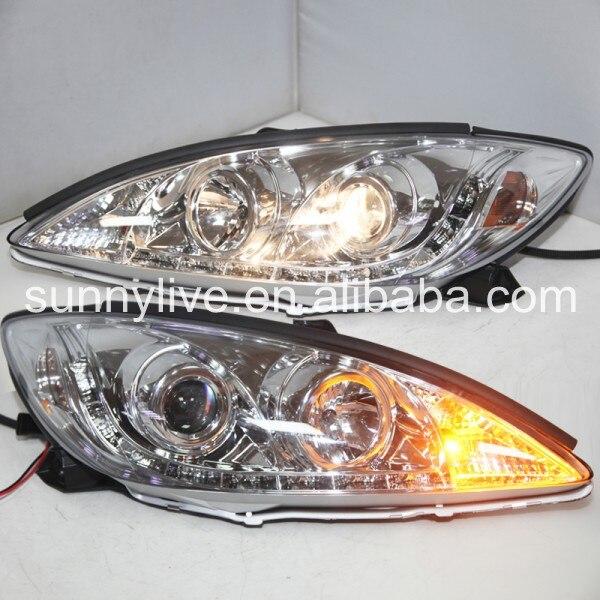 Для Camry V30 в 2001-2006 светодиодные фары хром корпус