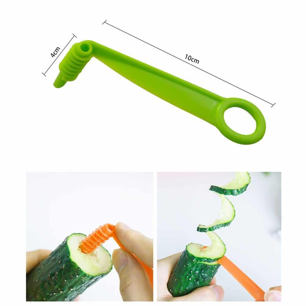 1 шт. ручной спиральный винтовой стержень для нарезки пластика PP картофель Морковь Огурец овощи спиральный нож кухонные инструменты