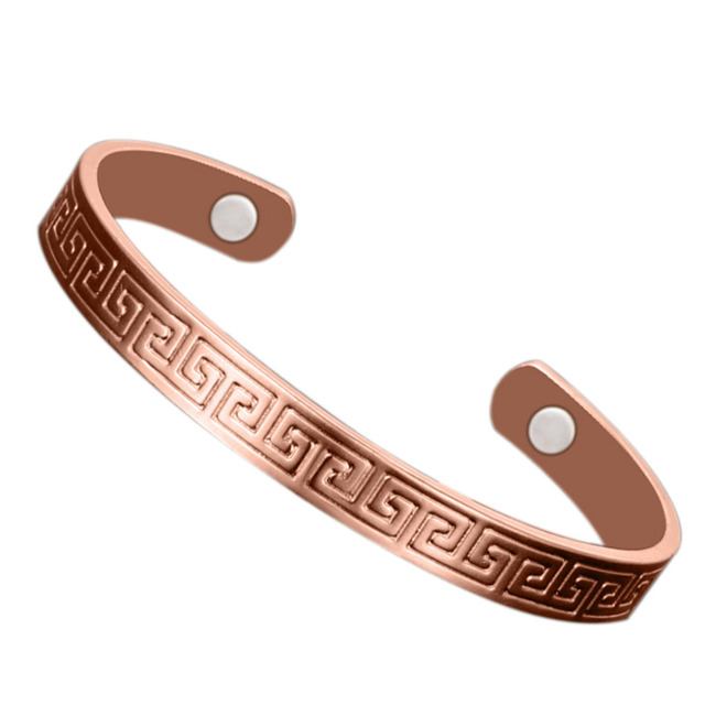 Retro Magnetic Healing Therapy Copper Bracelet Bangle Cuff Arthritis Pain Relief Y51