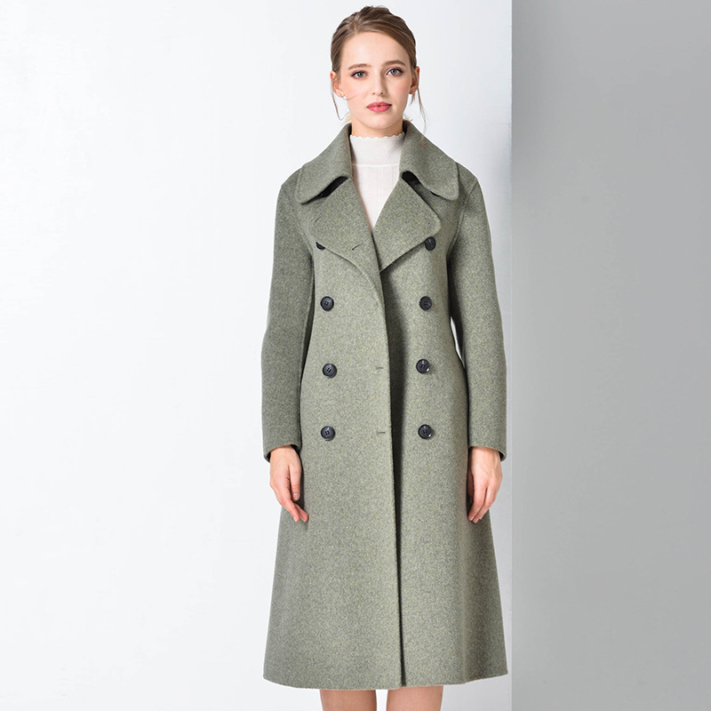 Veste en laine manteau en cachemire de laine Double face fait main femme veste en laine femme manteau Double face hiver 2018