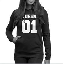 women sweatshirt king queen hoodie harajuku gothic clothes womens clothing casual korean hoodies plus size fashion 2019 mama