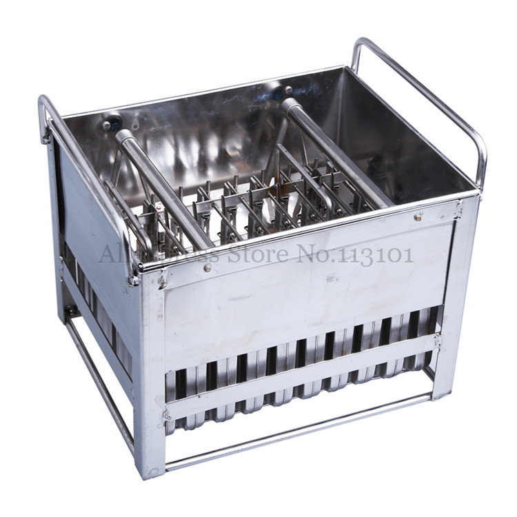 Stainless Steel Ice Pop Mold 40pcs/Batch Commercial Ice Popsicle Mould with Sticks Holder Ice-lolly Molds