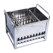Stainless Steel Ice Pop Mold 40pcs/Batch Commercial Ice Popsicle Mould with Sticks Holder Ice-lolly Molds(China)