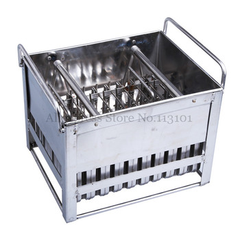 Stainless Steel Ice Pop Mold 40pcs/Batch Commercial Ice Popsicle Mould with Sticks Holder Ice-lolly Molds zhenxing 4 cup ice pop making molds w sticks translucent white green
