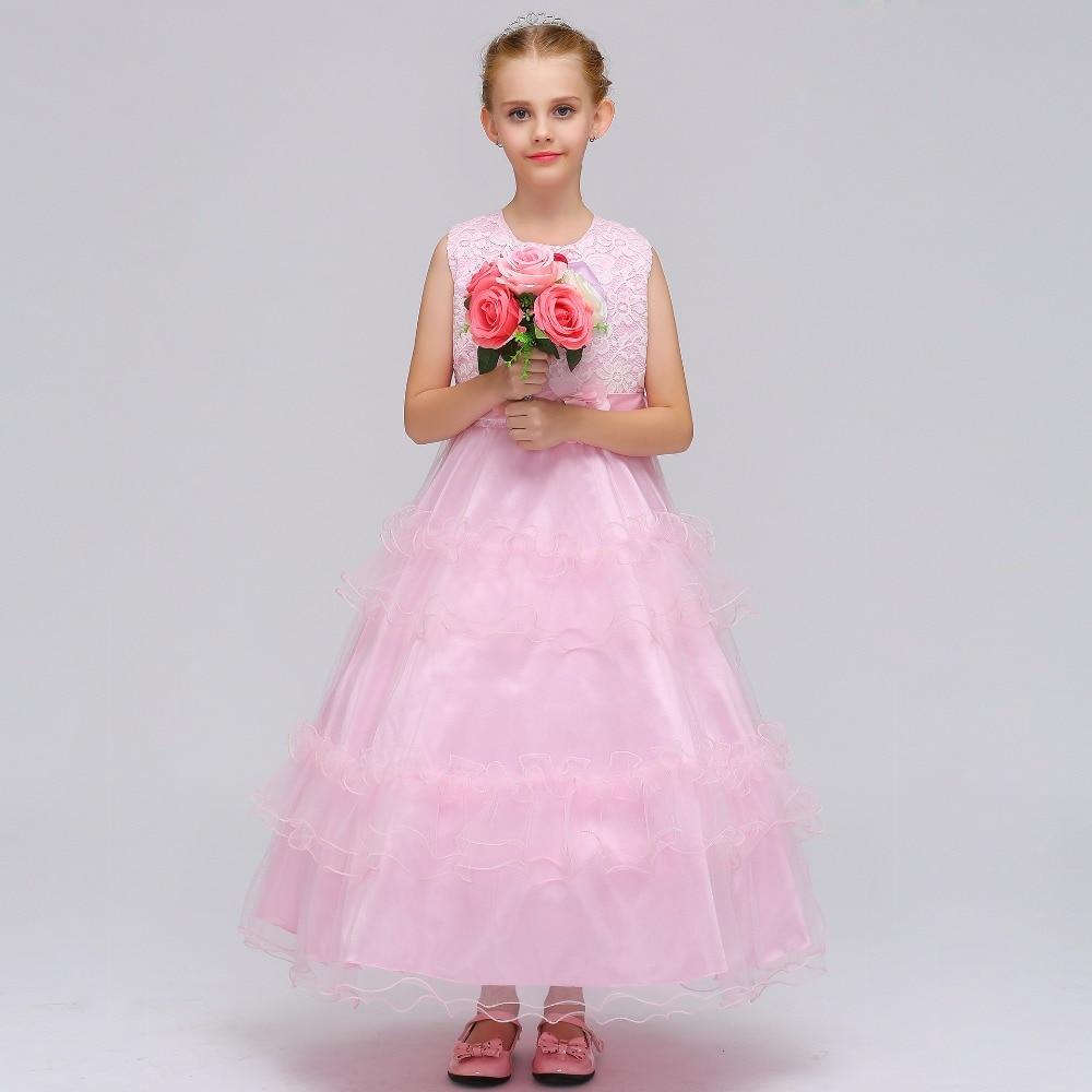 Popular Tank Sleevless Ballgown Lace   Flower     Girls     Dress   First Communion   Dress   Mulity Color