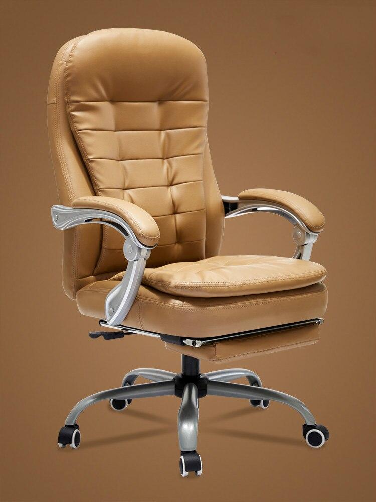 Computer Stoel Baas Stoel Koe Lederen Bureaustoel Kruk Seat Swivel Stoel Studie Tafel Thuis Eenvoudige En Comfortabele