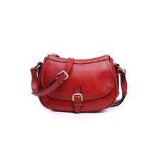 Crossbody Echte Lederne Beutel Vintage Casual Weiblichen Handtasche Mode-Design Schulter Frauen Bolosa Messenger Sac Femme