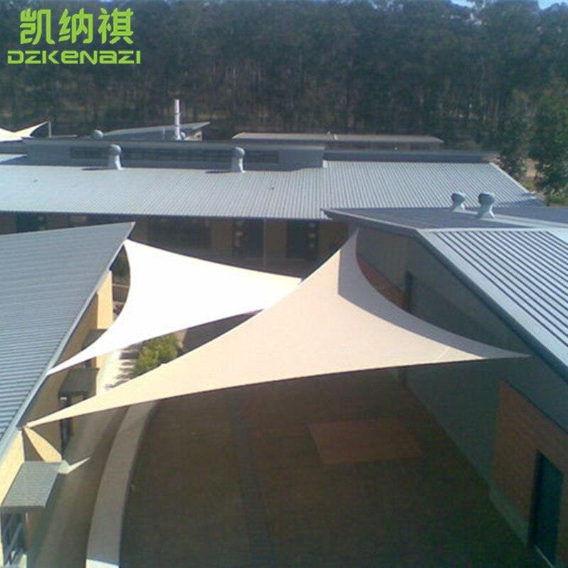 5 X 5 X 5 M/pcs HDPE Sun Shade Sail In Arc Edge Design