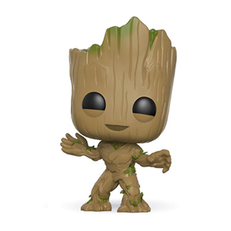 XINDUPLAN Funko pop Groot Baby Guardians of the Galaxy Vol 2 Holiday Dancing Action Figure Toys PVC Model Gift new funko pop guardians of the galaxy tree people groot