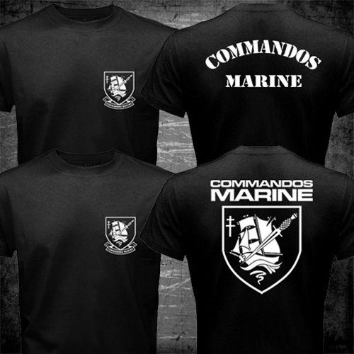 52207496de0c0 Operação Das Forças Especiais da Marinha francesa Counter Terrorist  Comandos Marinhos T shirt homens dois lados