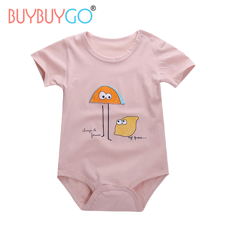 SALE Summer Breathable Baby Bodysuit 100% Cotton Baby Boys Girls Overalls Infant Short Sleeve Ropa 6M-12M Jumpsuits Clothing