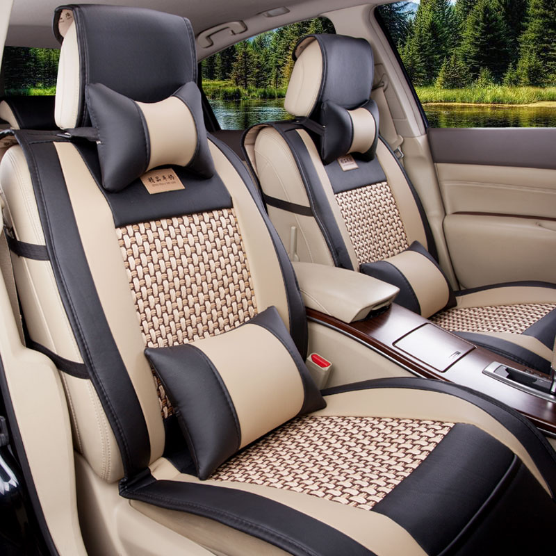 car seat cover small card 5 five summer  cool car cushion pad single surrounded by four seasons general seat cushion the cushion slip-on shoe