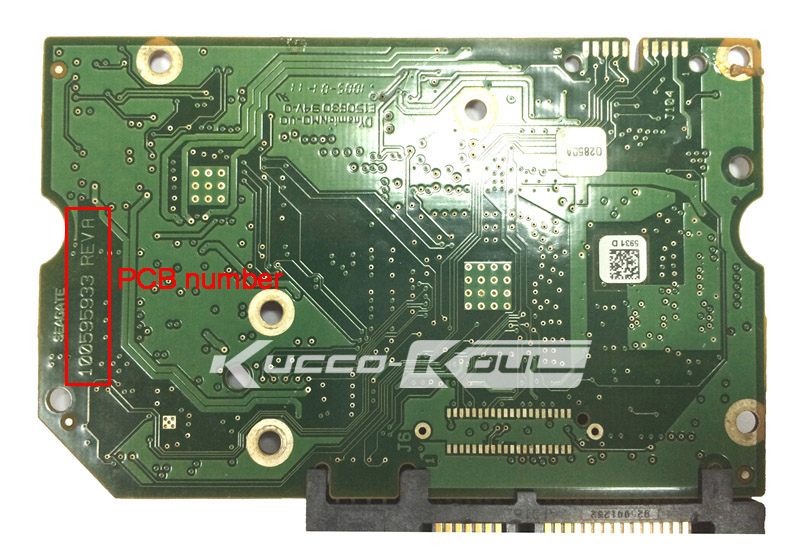 hard drive parts PCB logic board printed circuit board 100595933 for Seagate 3.5 SATA hdd data recovery hard drive repair