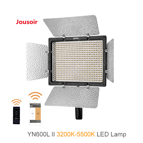 YONGNUO <font><b>YN600L</b></font> <font><b>II</b></font> 3200K-5500K YN600 <font><b>II</b></font> 600 Video LED Light Panel 2.4G Remote Control by Phone App for Interview Camera CD30 image