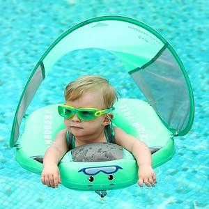Baby Infant Non-Inflatable Float Lying Swimming Ring Children Waist Float Ring Floats Pool Toys Swim Trainer Sunshade Swim Ring(China)