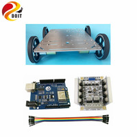 C600 4WD Smart Car Chassis with Metal Wheel+ Development Board for Arduino+Big Power Drive Board