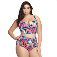 DZRZVD 5XL Plus Size Swimsuit Bikini Set For Women Push Up Bikinis Large Size Fat Swimwear